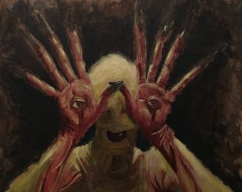 pan's labyrinth monster acrylic painting