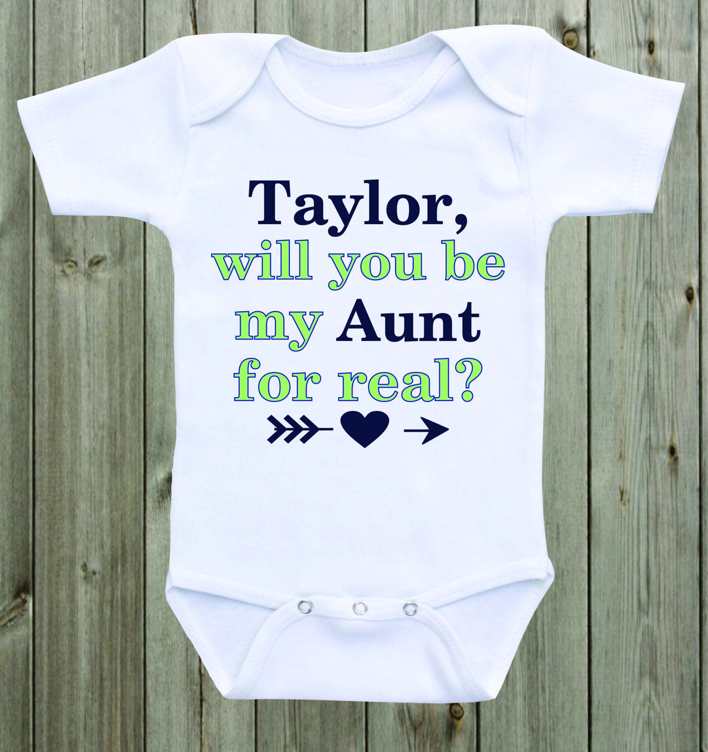 Will You Be My Aunt Marriage Proposal Baby Onesie Custom