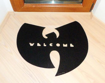 Wu Tang Clan welcome mat home decor. Rap music floor mat for your entry.