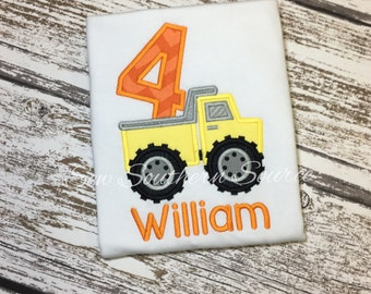 Personalized Construction Dump Truck Birthday - 4th