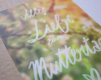 """Tarjeta de felicitación del """"día de las madres felices"""""""