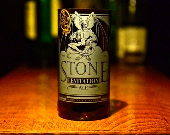 Upcycled Stone Beer Bottle Glasses