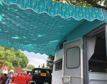 8 8l X 8 W Vintage Trailer Awning Bunting