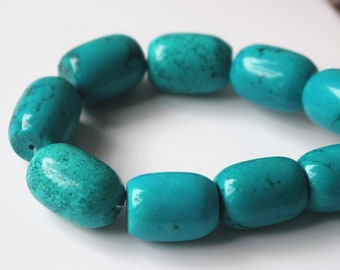 Turquoise Barrel Beads,Drum Beads, Smooth Beads,15'' per strand 13x16mm