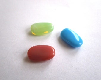 Puck of glass 14mm choose colors