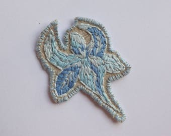 One of a kind Hand embroidered flower patch