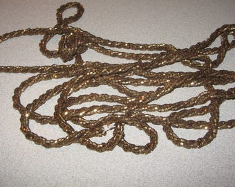 Older Flapper Long Necklace Vintage Costume Jewelry #2496