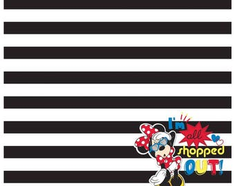 """TWO SHEETS of Sandylion Disney Minnie Mouse All Shopped Out 12"""" x 12"""" Single Sided Scrapbook Paper"""