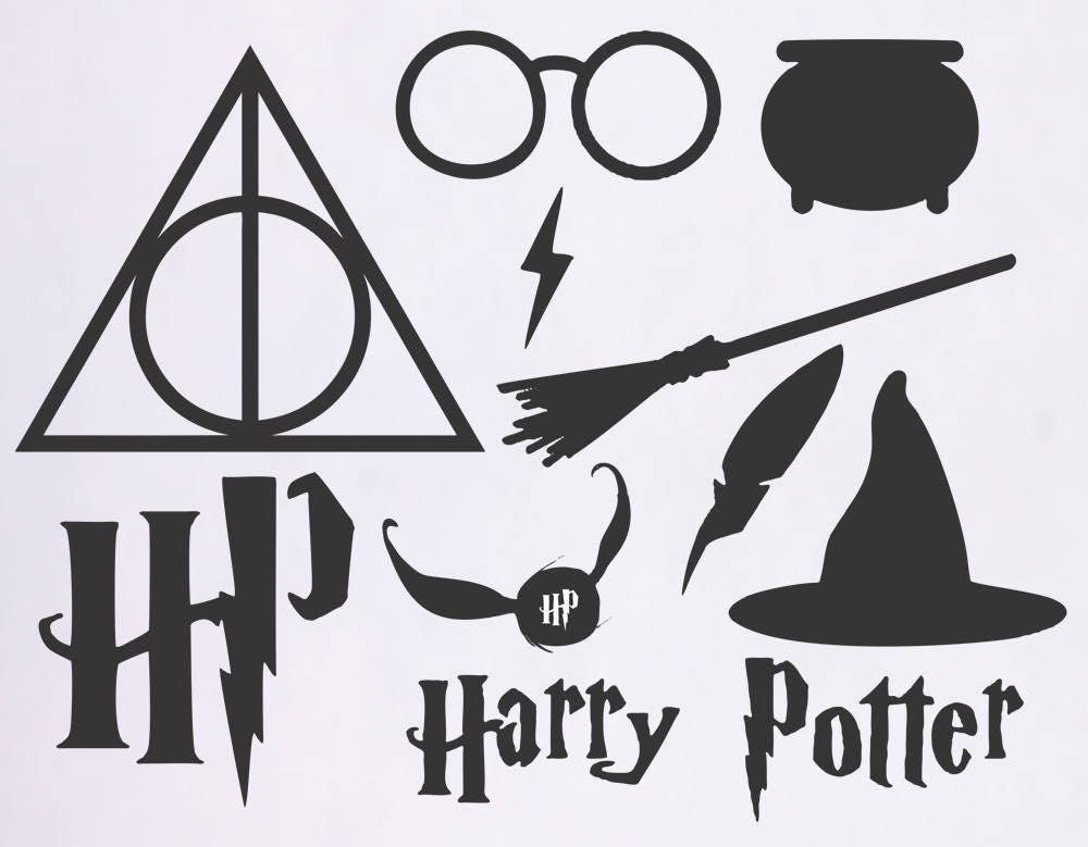 D Line Drawings Zip File : Harry potter svg files dementor