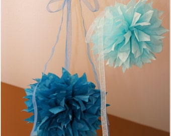 Tissue Paper Poms 9.5  Inch Choose Your Own Color
