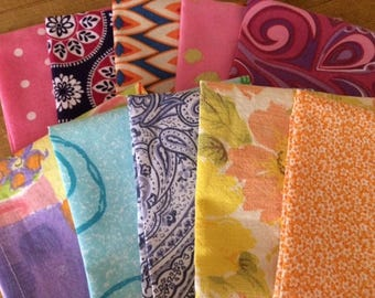 Lunchbox Cloth Napkins, Set of 10, Boho, Retro - Mod Squad Collection, by CHOW with ME