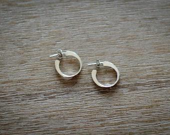 Simple Sterling Silver Hoop Earrings