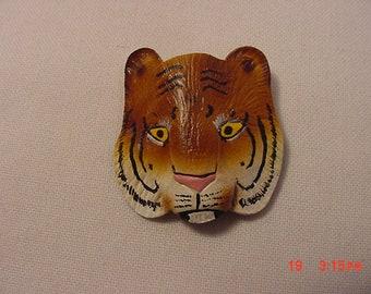 Vintage Tiger Face Brooch  18 - 911