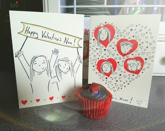 Personalised Hand Drawn Greetings Card To Celebrate Occasions / Birthdays