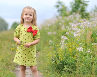 Girls linen dress Ladybird Toddler linen dress Linen dress of 100% linen  Linen Natural Girl Dress