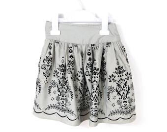 Girls skirt, skirt for girl, 3 years old girl, skirt vintage, vintage skirt, gray girl skirt, toddler girls skirt, girl skirt 3, 3 skirt