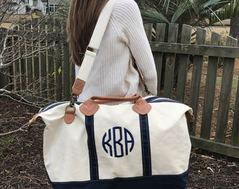 Extra Large Monogram Tote Bag - Monogram Duffle Bag - Large Travel Tote- Mothers Day Gift- Back to School - Graduation Gift - College Life