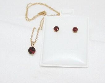 Garnet Jewelry Set, Garnet Necklace Earrings, Red Garnet Necklace, Almandite Garnet, Natural Garnet Necklace, Genuine Garnet, Gift for Her
