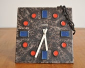 RESERVED - Kienzle Boutique West-germany Fat Lava vintage wall clock by Carstens