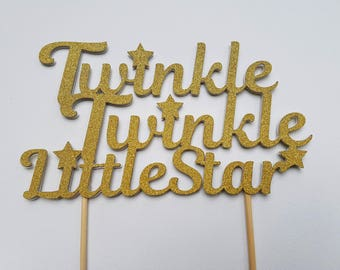 Twinkle Twinkle cake topper. Little star baby shower cake topper. Decorations. Twinkle twinkle little star.