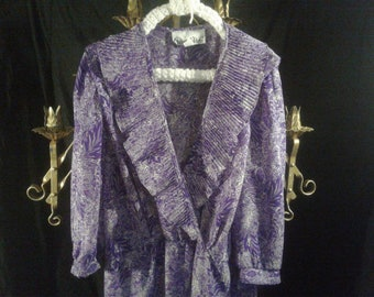 Allison Peters Vintage Dress, no size, best guess is Large/extra large.  1980's