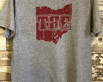 Adult THE Ohio Shirt / Extended Sizes S-6XL / Buckeyes / Home / Football / OSU / Ohio State Sweatshirt / Custom Made Shirt/Script Ohio