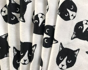 Cat Cloth Napkins, Reusable Napkins, Eco Friendly Napkins, Pack Of 6 Napkins, Kitty Napkins, Cat Gift, Cat Lover Gift, Kitty Cat,