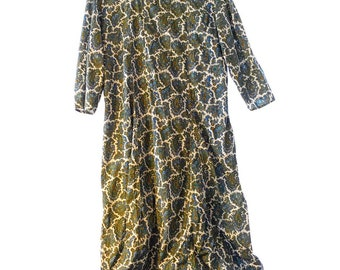 1950's Hand-made paisley dress Size M/L