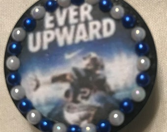 """Brigham Young University (BYU) Cougars """"Ever Upward"""" Retractable Badge/ID Holder"""