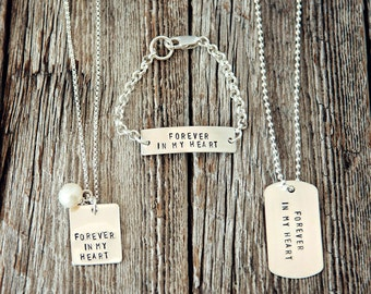 Forever in My Heart, Birth Parent Jewelry, Remembrance Jewelry, Bereavement Jewelry, Adoption Gifts, Forever in My Heart Necklace, Baby Gift