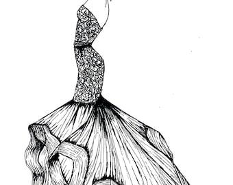 Fashion Illustration Prints and Original Art Work