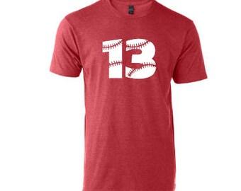 Baseball Softball Number Tee