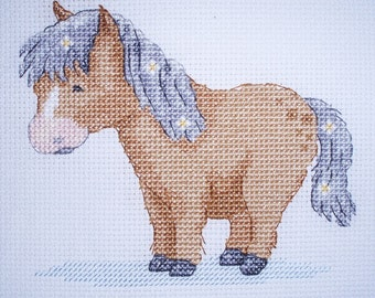 KL120 Poppy Pony Counted Cross Stitch Kit