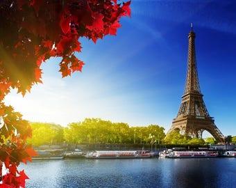 Laminated placemat France Paris Eiffel Tower