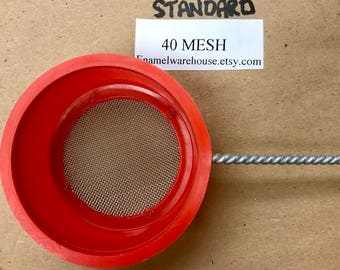 "SM-2 Medium Sifter  1-1/4"" dia. X 7/8"" d Standard 40 Mesh Screen Size"