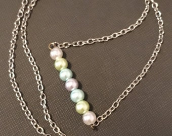 Multicolored Pearl Bead Necklace