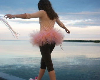 Classic Short and Sassy Ultra Poof Tutu - SEWN and SUPER FULL Tulle Skirt  - Choose your colors and length - running tutu, bachelorette