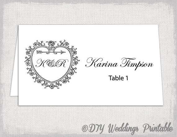 Printable Place Card Template Tent Name Card Templates - Name tent template