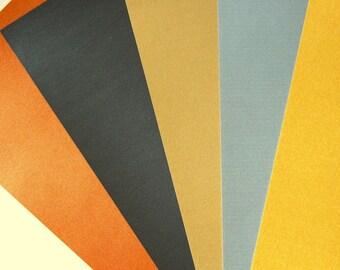 conjunto de 5 hojas A4 papel metalizado
