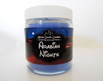 Arabian Nights Candle - Aladdin Inspired - Disney - Black Castle Candles - Soy-blend Wax - 4 oz Container