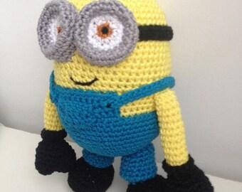 PATTERN - Minion Dave crochet, Amigurumi pattern, Plush crochet pattern, Minion plush