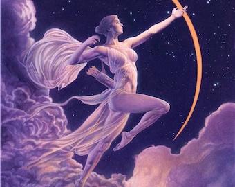 Goddess Diana / Art Deco Print