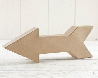 Paper Mache Arrow - 3D Craft Shape, U-Decorate