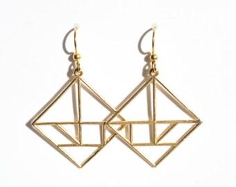 Tangram earrings