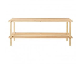 2 Tier Natural Cedar Wood Shoe Rack Durable And Sturdy Shoe Rack.