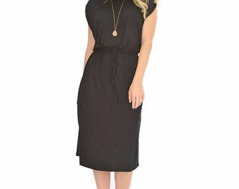 Waist Tie Midi Dress