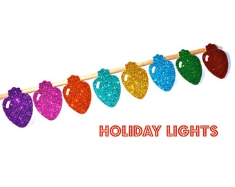 Ugly Sweater Party - Christmas Lights on a stick - Holiday Photo Booth Props - Christmas Props - Strand of Christmas Lights Prop