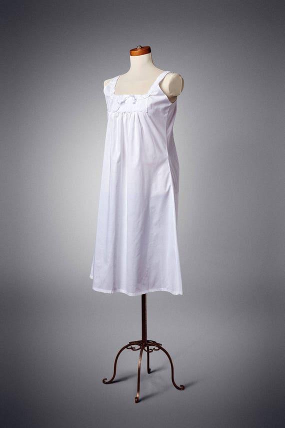 Victorian Lingerie – Underwear, Petticoat, Bloomers, Chemise Edwardian Sleeveless Chemise Xs-XxlEdwardian Sleeveless Chemise Xs-Xxl $45.00 AT vintagedancer.com