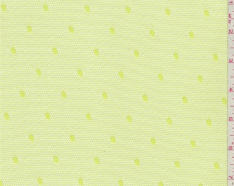Citrus Green Dot Mesh, Fabric By The Yard