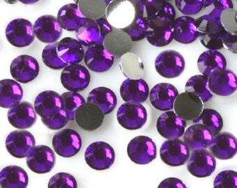 2mm 1000 pieces Round Flat Back Rhinestones  ----  Purple